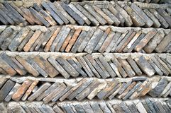Villaggio di Hongcun dentro la parete/divisione delle costruzioni Immagini Stock