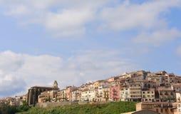 Villaggio di Horta de Sant Joan, Terra Alta Immagine Stock