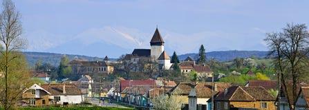 Villaggio di Hosman in Transylvania, Romania fotografia stock libera da diritti