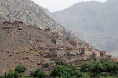 Villaggio di Imlil e valle, alte montagne di atlante, Marocco Fotografia Stock