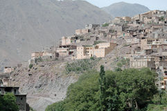 Villaggio di Imlil e valle, alte montagne di atlante, Marocco Fotografia Stock Libera da Diritti