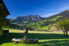 Villaggio di Inneralpbach in valle di Alpbach, Austria Immagini Stock Libere da Diritti