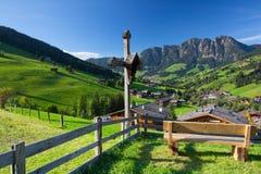 Villaggio di Inneralpbach in valle di Alpbach, Austria Fotografie Stock