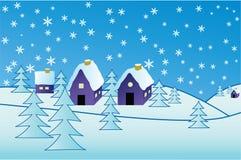 Villaggio di inverno Immagine Stock Libera da Diritti