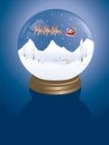 Villaggio di inverno di Snowglobe Immagini Stock Libere da Diritti