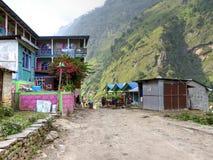 Villaggio di Jagat Fotografia Stock