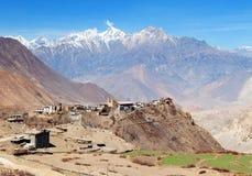 Villaggio di Jharkot immagine stock