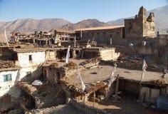 Villaggio di Jharkot immagine stock libera da diritti