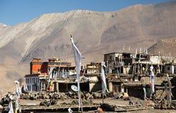 Villaggio di Jharkot fotografie stock libere da diritti