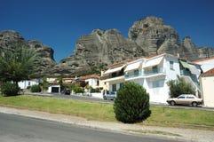 Villaggio di Kastraki, Meteora, Grecia Fotografia Stock Libera da Diritti