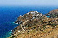 Villaggio di Kastro su Sifnos Fotografie Stock Libere da Diritti