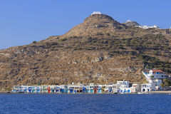 Villaggio di Klima sull'isola di Milo fotografia stock libera da diritti