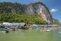Villaggio di Ko Panyi Koh Panyee fotografia stock libera da diritti