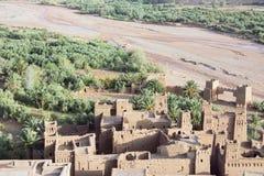 Villaggio di Ksar Ait Ben Haddou da sopra Immagini Stock