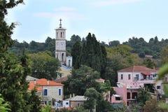 Villaggio di Lafkos Fotografie Stock