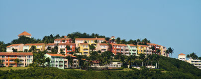 Villaggio di Las Casitas, Fajardo, Porto Rico Fotografia Stock