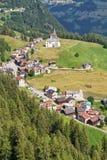 Villaggio di Laste - di Dolomiti Fotografie Stock