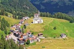 Villaggio di Laste - Italia Immagini Stock Libere da Diritti
