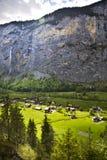 Villaggio di Lauterbrunnen, Svizzera Immagini Stock