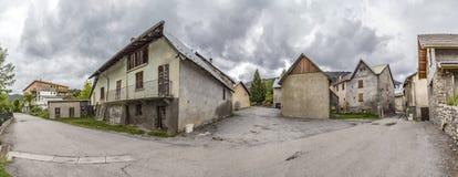 Villaggio di Le Vernet nel Alpes francese Immagine Stock Libera da Diritti