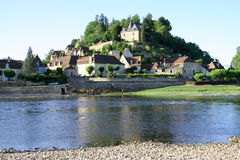 Villaggio di Limeuil, Francia Fotografie Stock