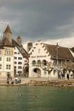 Villaggio di lungomare del Vecchio Mondo immagine stock