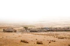 Villaggio di Maasai Immagine Stock Libera da Diritti