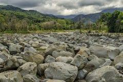 Villaggio di Malangkap Fotografia Stock Libera da Diritti