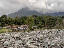Villaggio di Malangkap Fotografia Stock