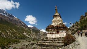 Villaggio di Manang nel Nepal Fotografia Stock Libera da Diritti