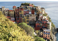 Villaggio di Manarola, Cinque Terre Italy Immagini Stock Libere da Diritti