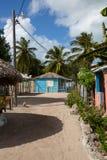 Villaggio di Mano Juan nella Repubblica di Saona Domenican Fotografia Stock