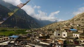 Villaggio di Marpha nel Nepal Fotografia Stock