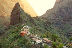 Villaggio di Masca in Tenerife Fotografia Stock Libera da Diritti