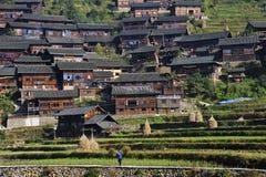Villaggio di minoranza di Miao Fotografie Stock Libere da Diritti