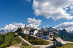 Villaggio di Monte Santo di Lussari - Tarvisio Italia Immagini Stock Libere da Diritti