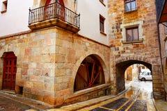 Villaggio di Mora de Rubielos a Teruel Spagna fotografie stock