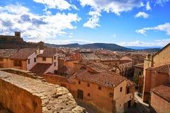 Villaggio di Mora de Rubielos a Teruel Spagna fotografie stock libere da diritti