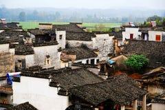 Villaggio di Nanping, un tipo famoso architettura antica di Huizhou in Cina Fotografie Stock