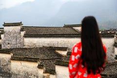 Villaggio di Nanping, un tipo famoso architettura antica di Huizhou in Cina Fotografia Stock