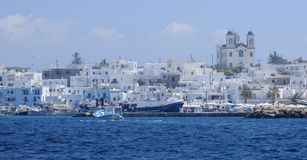 Villaggio di Naoussa in Grecia Fotografia Stock