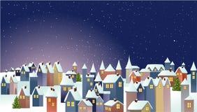 Villaggio di Natale Fotografie Stock