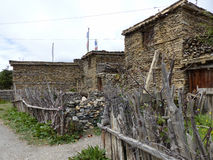 Villaggio di Ngawal Immagine Stock Libera da Diritti