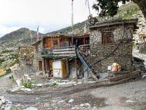 Villaggio di Ngawal Fotografie Stock