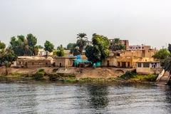 Villaggio di Nilo Fotografia Stock