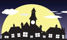 Villaggio di notte Fotografie Stock