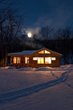Villaggio di notte Fotografia Stock