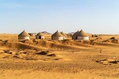Villaggio di Nubian nel Sudan Fotografie Stock Libere da Diritti