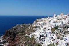 Villaggio di Oia Santorini Grecia fotografia stock libera da diritti