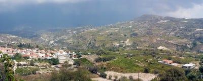 Villaggio di Omodos Fotografia Stock Libera da Diritti